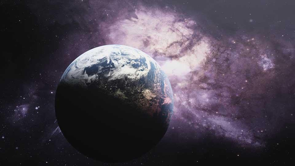 De aarde in de melkweg